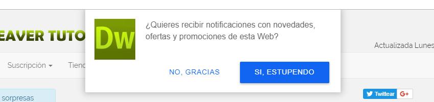 Cómo añadir notificaciones en tu web en 10 minutos y gratis