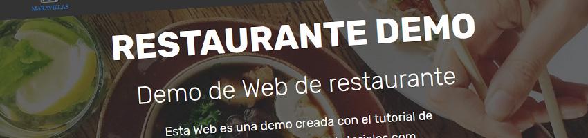Nuevo Minitutorial de Web de Restaurante Online