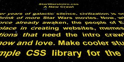 Efecto Star Wars con CSS para tu Web
